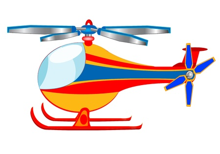 Illustration of the helicopter on white background is insulated Stock Vector - 17513270