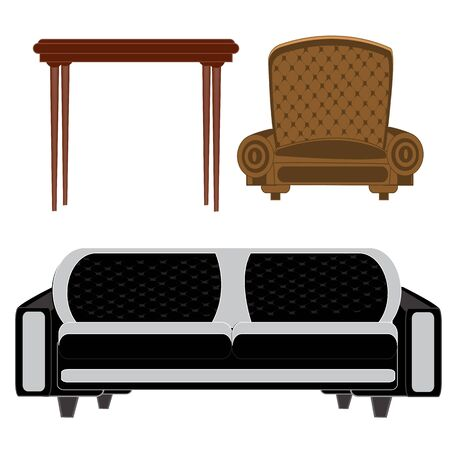 easy chair: Illustration to furniture for building on white background is insulated
