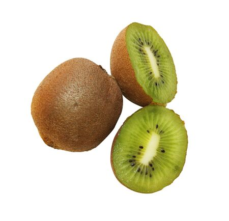 insulated: Fruits kiwi on white background is insulated