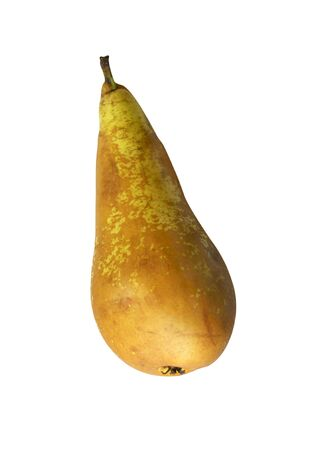 insulated: Ripe pear on white background is insulated