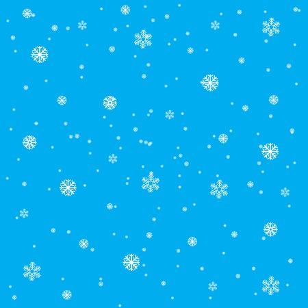 冬に雪の結晶から背景が青色に変わります  イラスト・ベクター素材