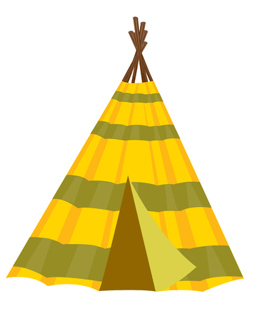 Home american indian wigwam on white background Vector