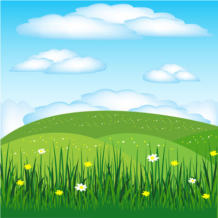 glade: Illustration of the landscape with glade year daytime