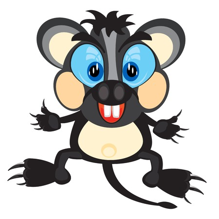 gnawer: Cartoon animal mouse on white background is insulated