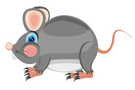 mouse trap: Cartoon by sulphur of the rat on white background  Illustration