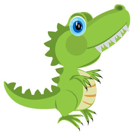 prehistorical: Prehistorical animal dinosaur on white background is insulated Illustration
