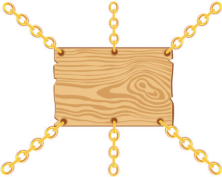 gild: Vector illustration of the board on chain from gild