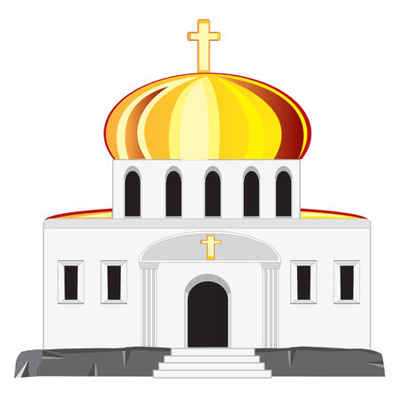 Vector illustration church on white background is insulated