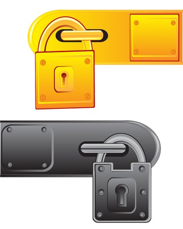 outboard: Vector illustration of the outboard lock on white background