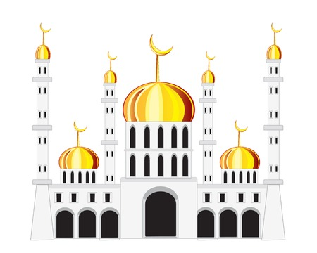 natural arch: Vector illustration of the building mosque on white background