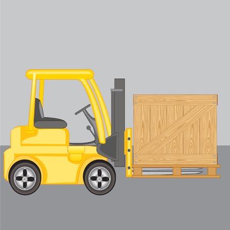 storehouse: M�quina para cargas de carga caja en almac�n