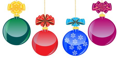 briliance: Festive ball with bow on white background is insulated
