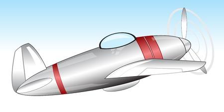 defensive: The Warplane flies in the sky.Vector illustration