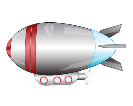 insulated: Passenger airship on white background is insulated Illustration