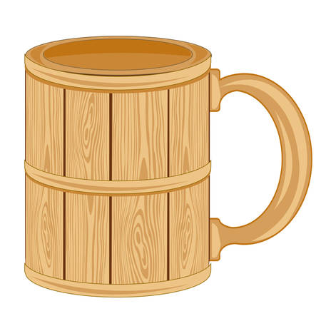 insulated: Mug from tree on white background insulated