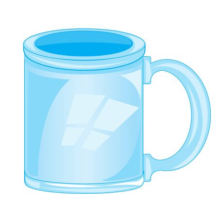 insulated: Empty mug from flow on white background is insulated Illustration