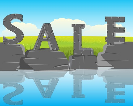 decorative letters: The Decorative letters sale on background of the nature Illustration