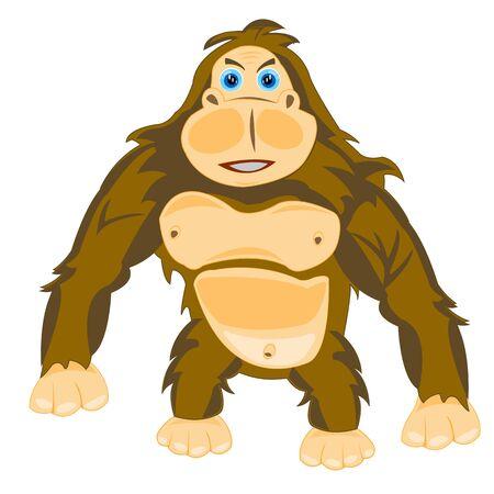 huntsman: Illustration animal gorilla on white background is insulated Illustration