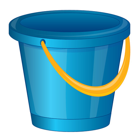 pail: Started blue pail from plastic arts.Vector illustration Illustration
