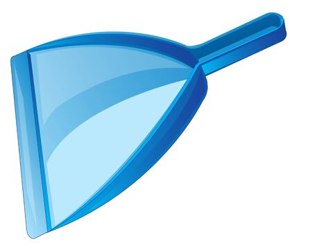 dustpan: Blue dustpan for cleaning the rubbish on white background