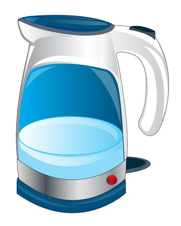 insulated: Electric teapot on white background is insulated