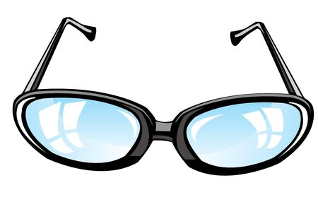 Subject glasses on white background is insulated