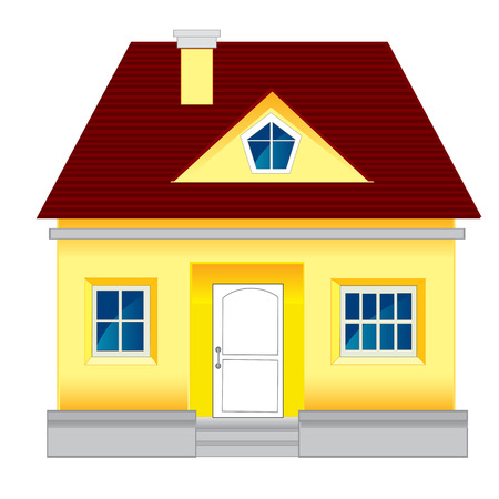 Small lodge on white background is insulated Illustration