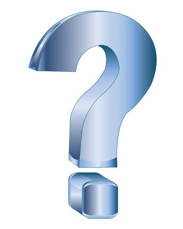 interrogative: Blue decorative interrogative sign on white background Illustration