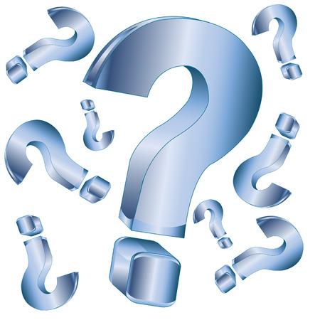 interrogative: El Fondo de signo de interrogaci�n en la ilustraci�n white.Vector Vectores