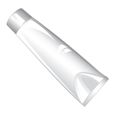 paste: Tubes with paste on white background is insulated