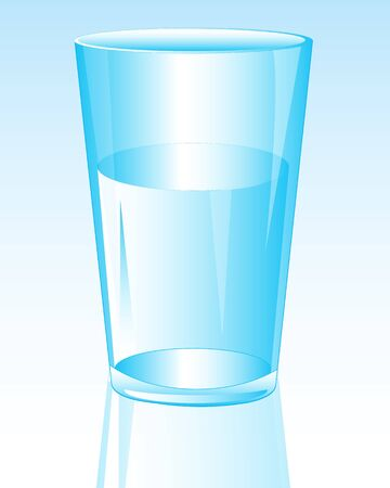 public health: Glass with water on white background Illustration