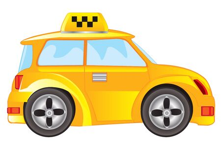 chauffeur: Car taxi for transportation passenger on white background