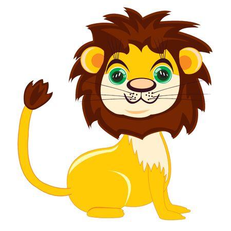 huntsman: Vector illustration lion on white background is insulated Illustration