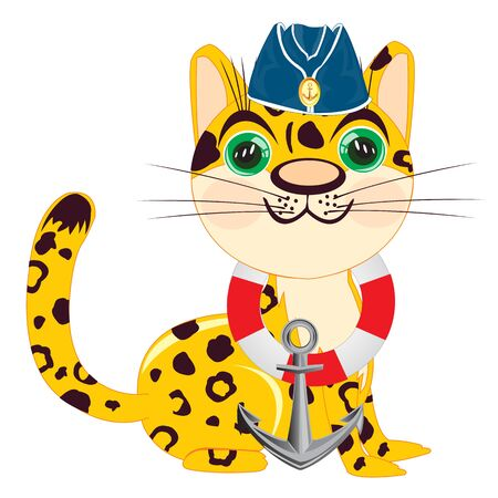 oversea: Leopard  white background is insulated.Vector illustration leopard Illustration
