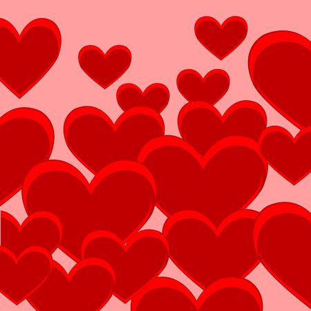 sidebar: The Bright decorative background with red heart. Illustration