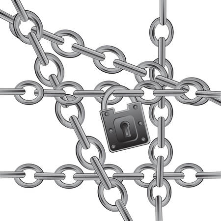gild: Chain from gild on white background is insulated Illustration