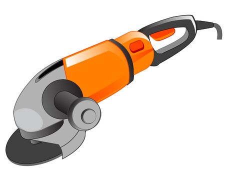 emery: Electric tool for polishing on white background is insulated Illustration