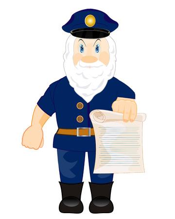 edicto: El hombre muestra escudero orden escrita en papel