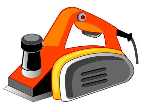 planos electricos: Tools electric planer on white background is insulated