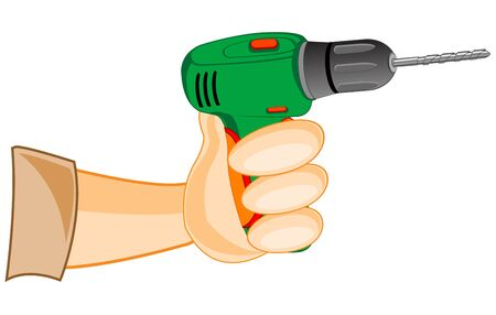 electric tools: Electric tools drill on white background is insulated