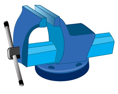 carpintería metálica herramientas de agarre en el fondo blanco está aislado