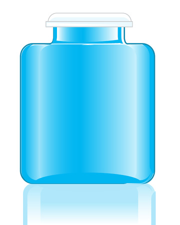 capacity: Glass capacity from under medicine on white background is insulated Illustration