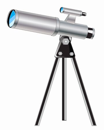 glance: Instrument for observation for sky telescope on white background