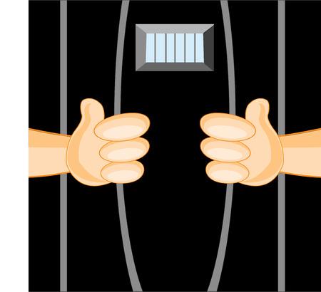 body guard: Hands of the person breaking lattice in camera