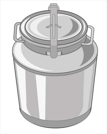 capacity: Vector illustration to big capacity for liquid on white background