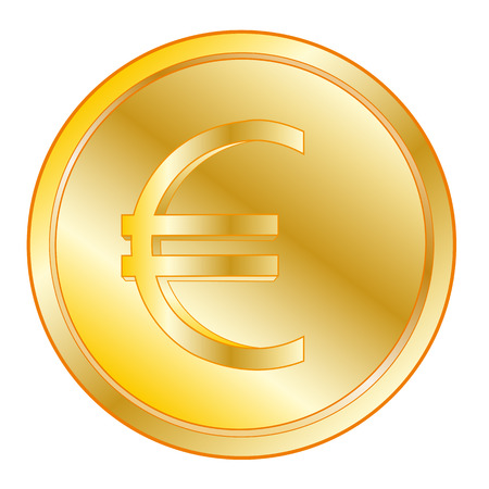 corporative: Round coin from gild on white background is insulated