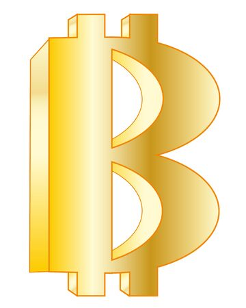 insulated: Virtual money bitcoin on white background is insulated