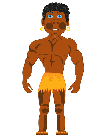 Young and strong man african on white background is insulated