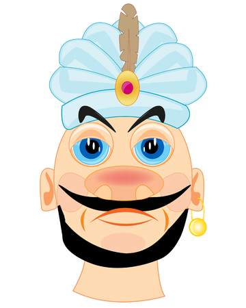 Vector illustration of the sultan on white background is insulated