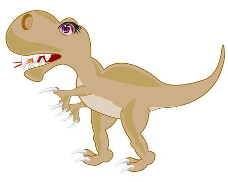 Prehistorical animal dinosaur on white background is insulated Illustration